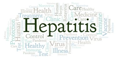Hepatitis word cloud, made with text only