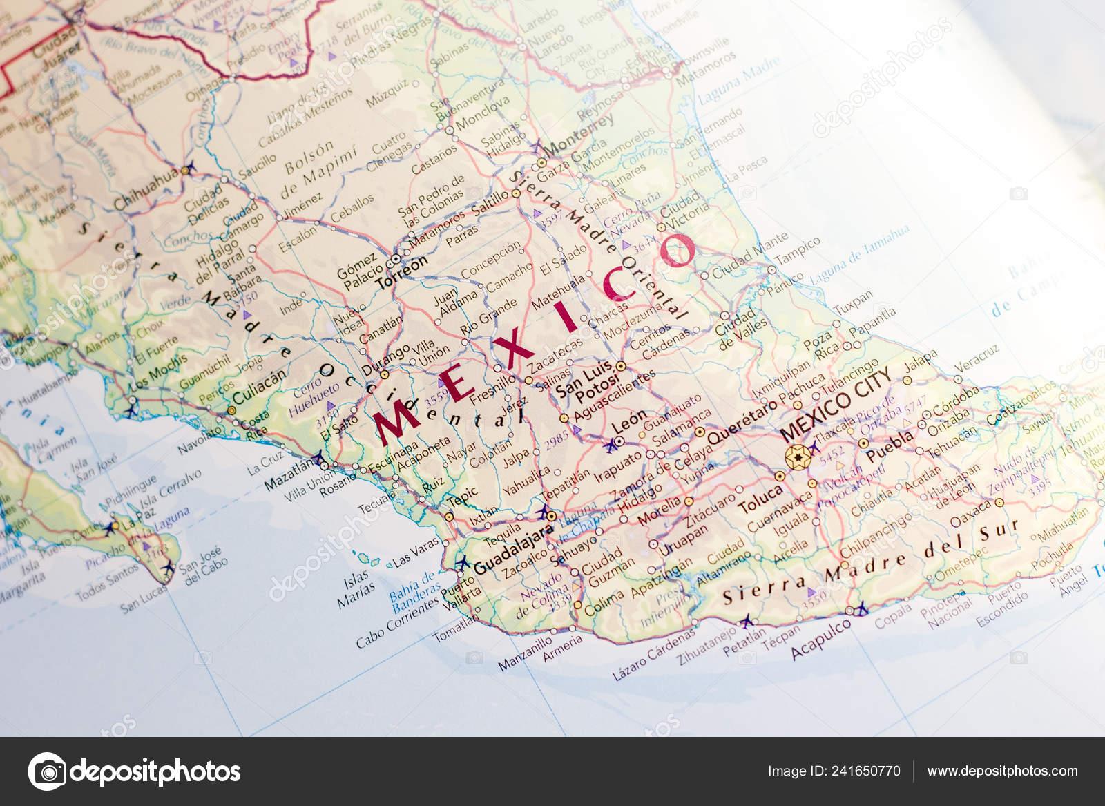 Mexiko Karte Welt.Ivanovsk Russland Januar 2019 Mexiko Auf Der Karte Der Welt