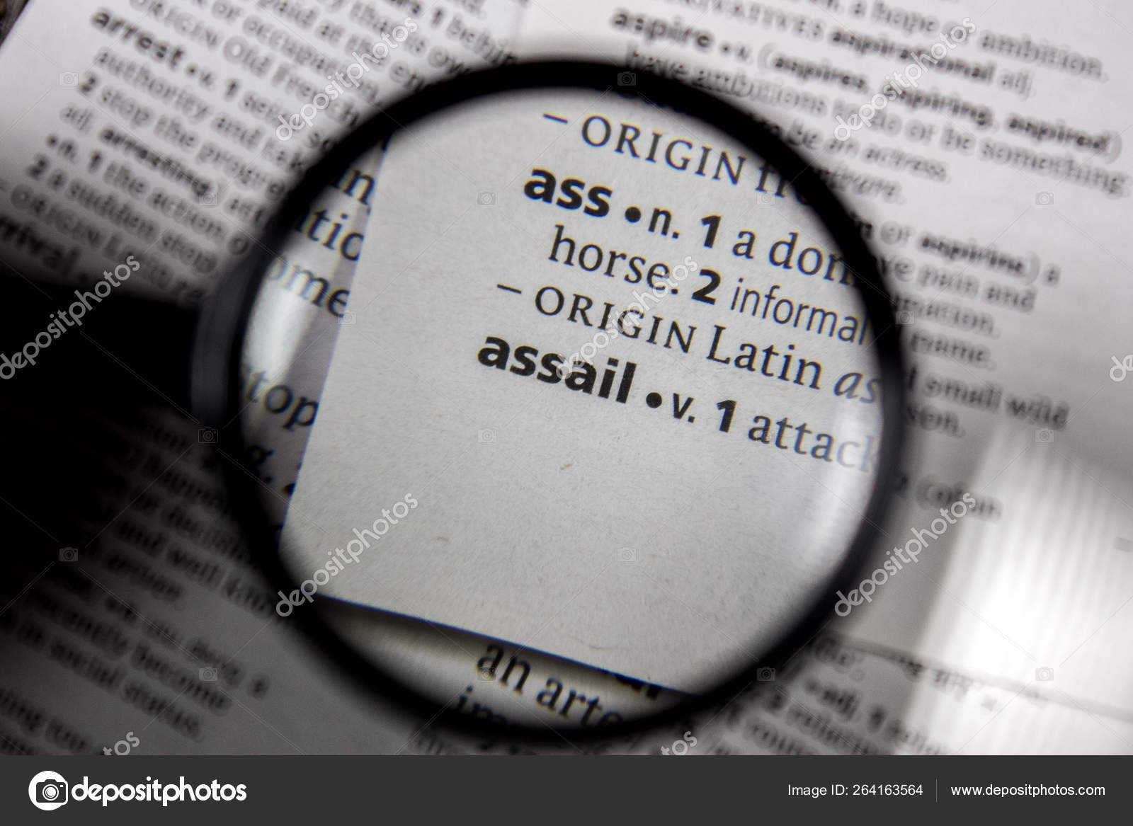 Word Phrase Assail Dictionary Book — Stock Photo