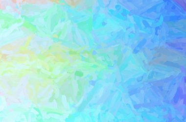 Abstract illustration of blue and green Impressionist Impasto background