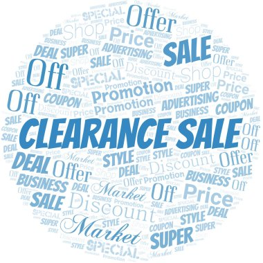 Clearance Sale Word Cloud. Wordcloud Made With Text.