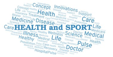 Health And Sport word cloud.