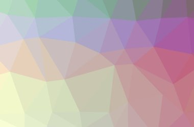 Illustration of abstract Red, Yellow horizontal low poly background. Beautiful polygon design pattern.