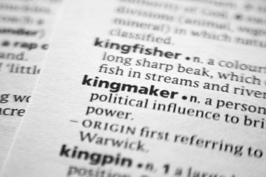 Word or phrase Kingmaker in a dictionary.