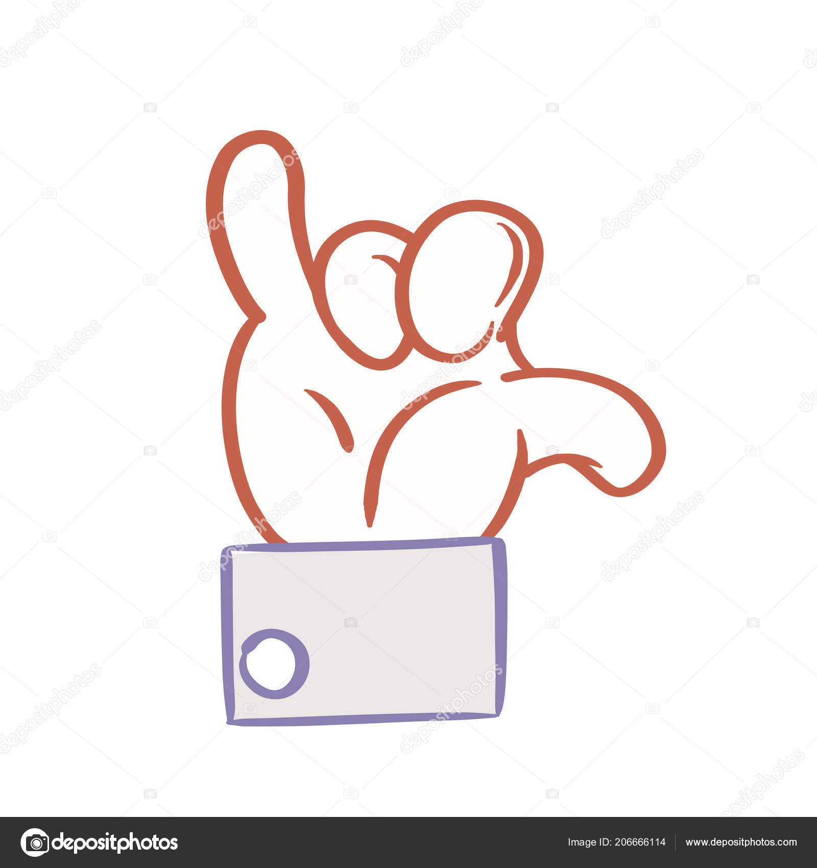 Cartoon Hand Hang Loose Sign Aroderick