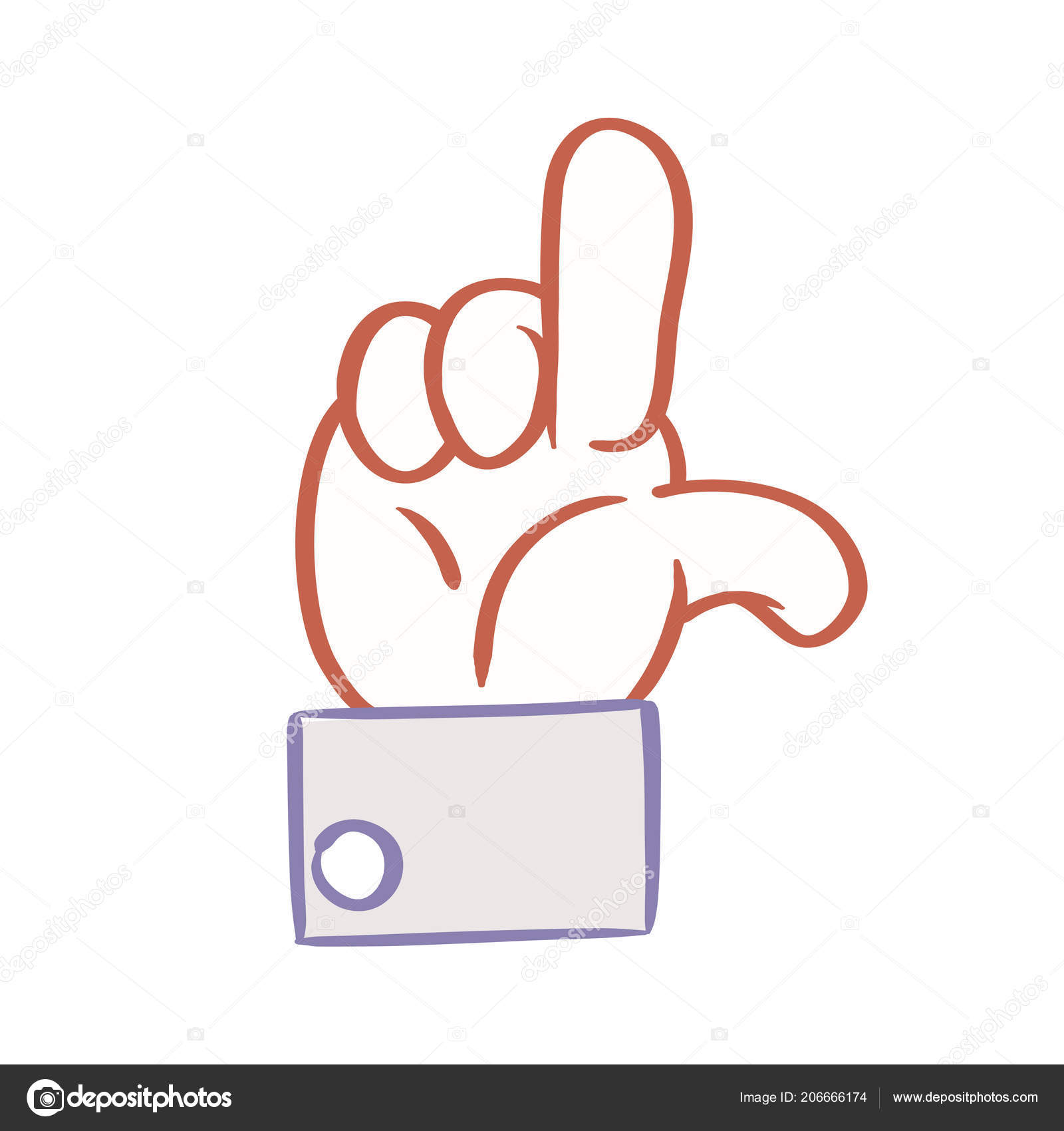 Cartoon Hand Hang Loose Sign Emoticon