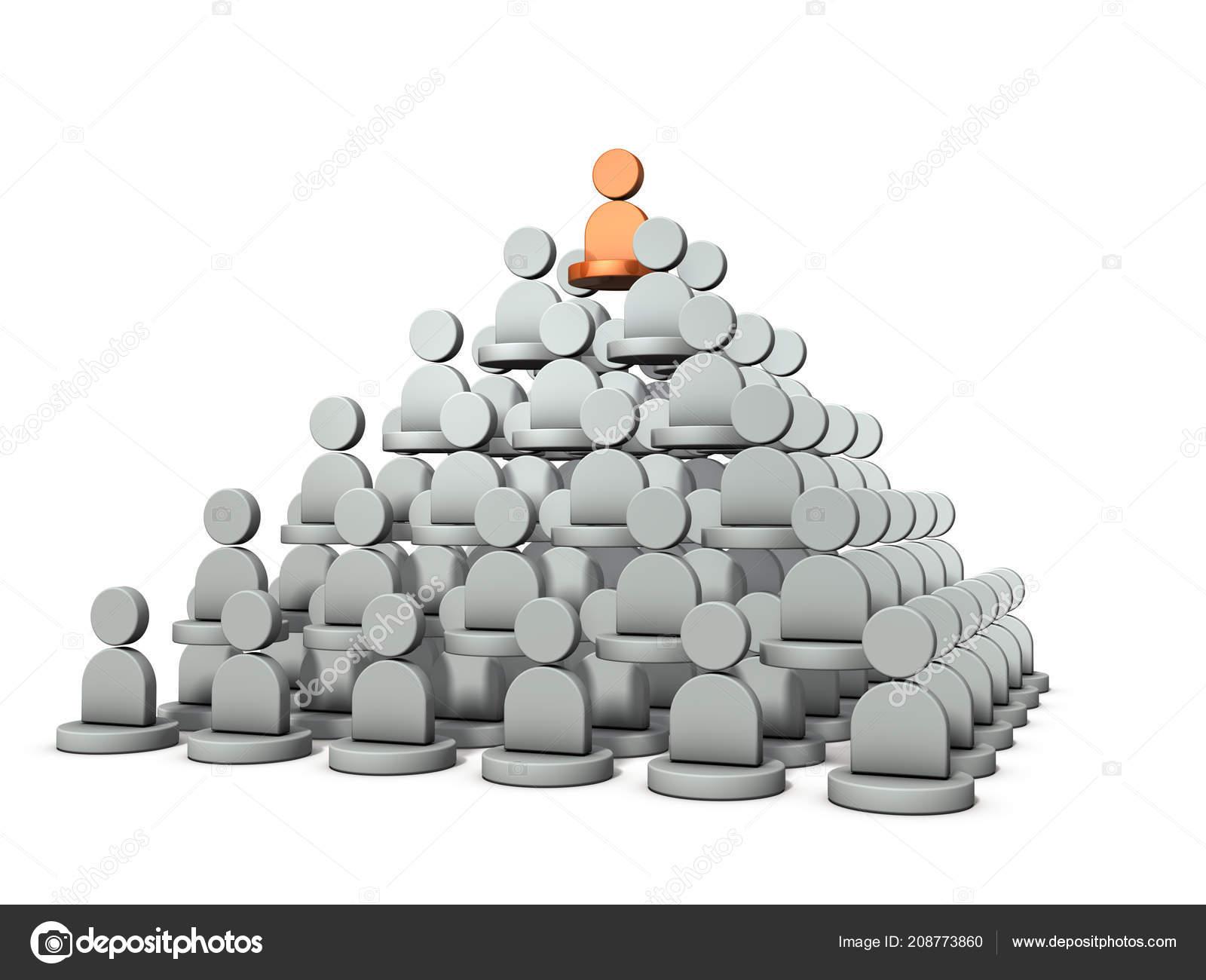 Una Estructura Piramidal Rango Potencia Representa