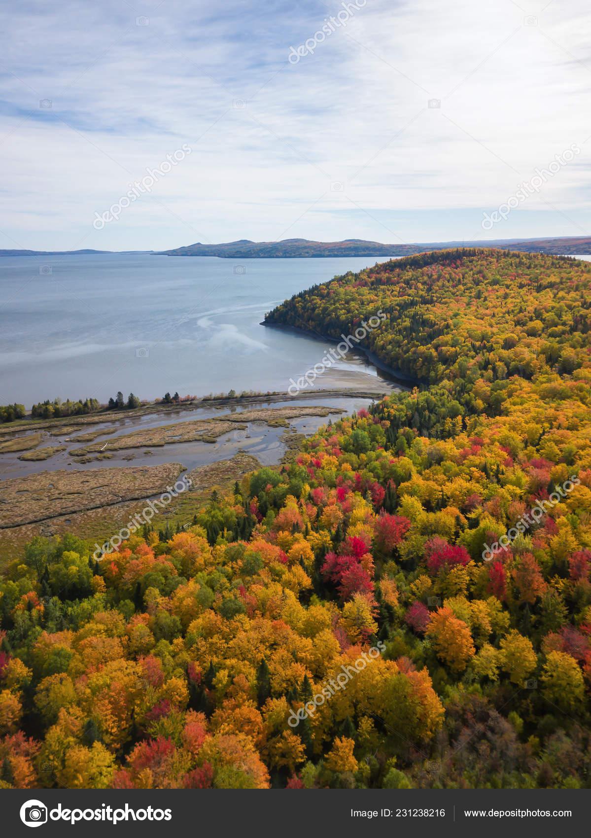 Aerial View Beautiful Canadian Landscape Fall Color Season Taken Pointe Stock Photo C Edb3 16 231238216