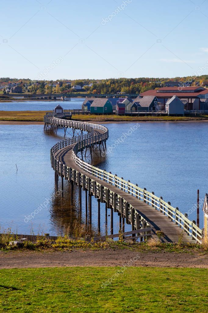 Bouctouche, New Brunswick, Canada - October 5, 2018: Pays de la Sagouine during a sunny day.