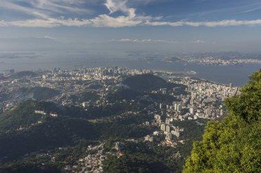 Beautiful landscape seen from Cristo Redentor (Christ the Redeemer) up on Morro do Corcovado (Corcovado Mountain), Rio de Janeiro, Brazil