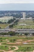 Blick vom Fernsehturm auf die zentrale Achse in Brasilien, Bundesbezirk, Hauptstadt Brasiliens