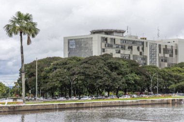 Public Ministry building in central Brasilia, Federal District, capital city of Brazil