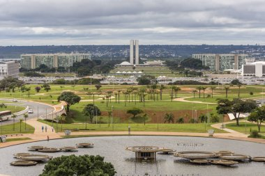 View from the TV Tower to the central axis in Brasilia, Federal District, capital city of Brazil