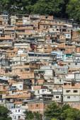 Cerro Cora Favela expanding through the Atlantic Rainforest hills of Rio de Janeiro, Brazil