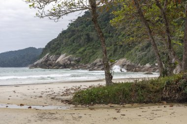 Beautiful tropical landscape in Santo Antonio Beach, Ilha Grande, Costa Verde, south Rio de Janeiro, Brazil