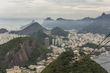 View from Pao de Acucar (Sugar Loaf Mountain) in Rio de Janeiro, Brazil