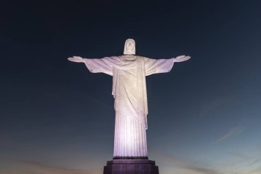 View to Christ the Redeemer Statue on top of Corcovado Mountain