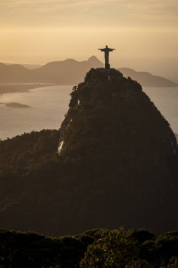 Beautiful view to Christ the Redeemer Statue over Corcovado Moun