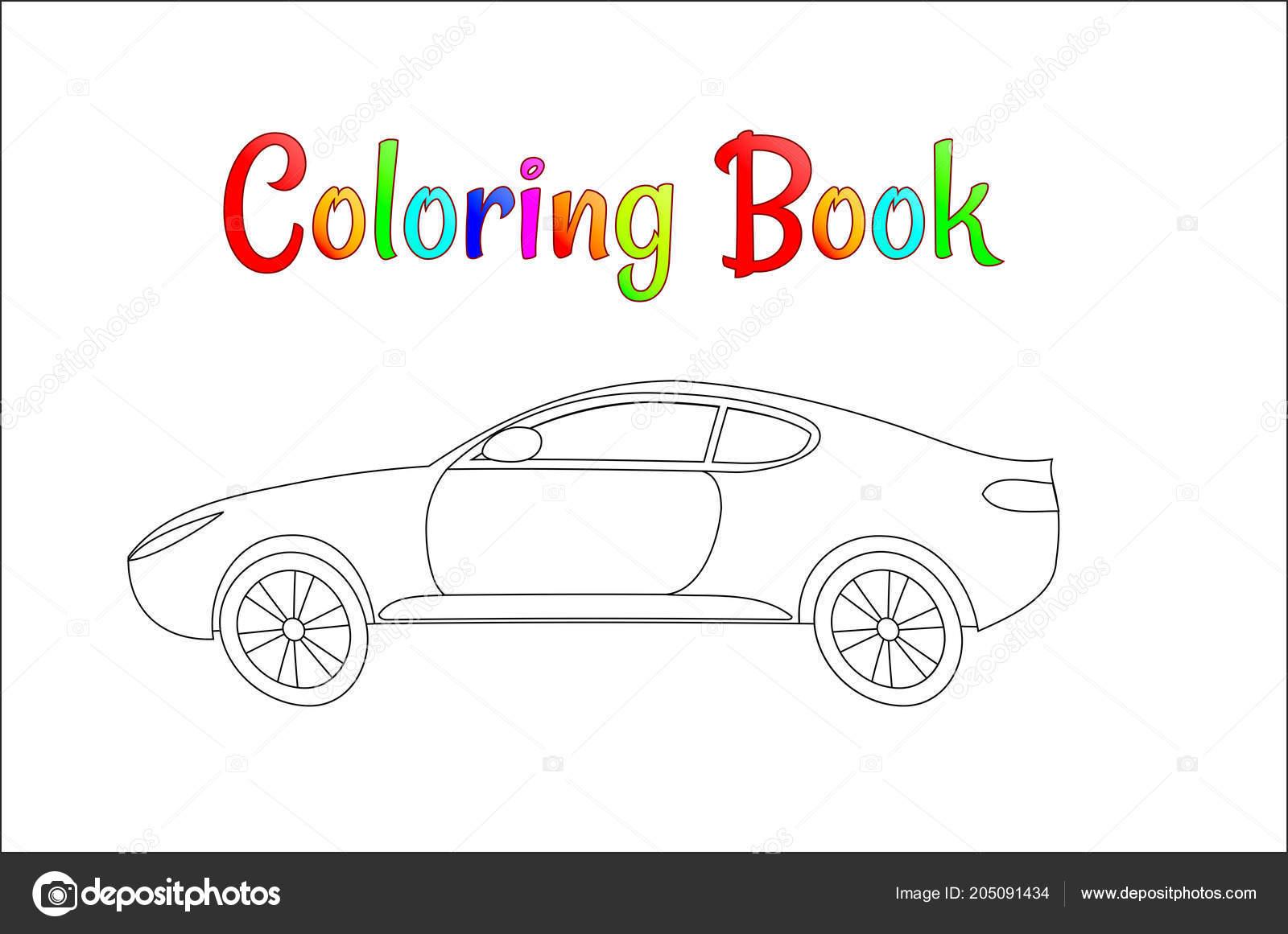 çizgi Yarış Araba Arka Plan Vektör çizim Sayfası çocuklar