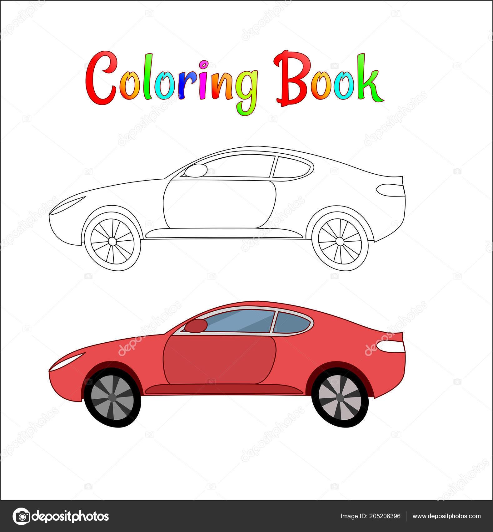 Fumetti Da Corsa Auto Fondo Pagina Da Colorare Per Bambini Traffico