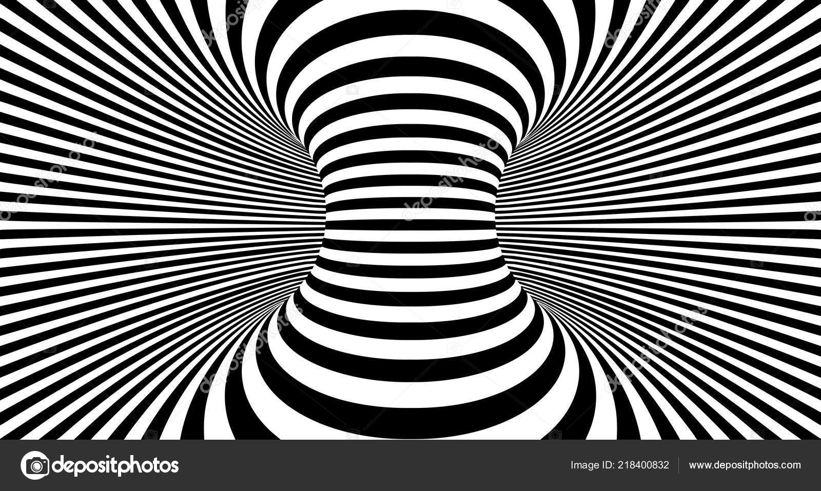 Optical illusion lines background abstract 3d black and white illusions conceptual design of optical