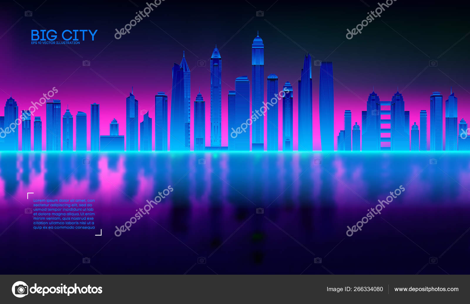 Retro wave background80s  City80s future retro synth