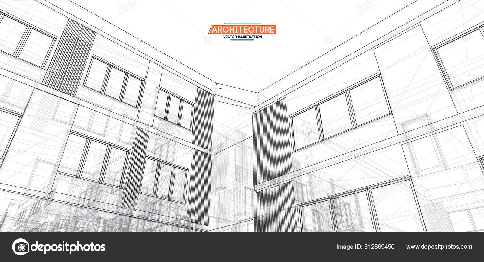 Architecture, great design for any purposes. 3d illustration ...