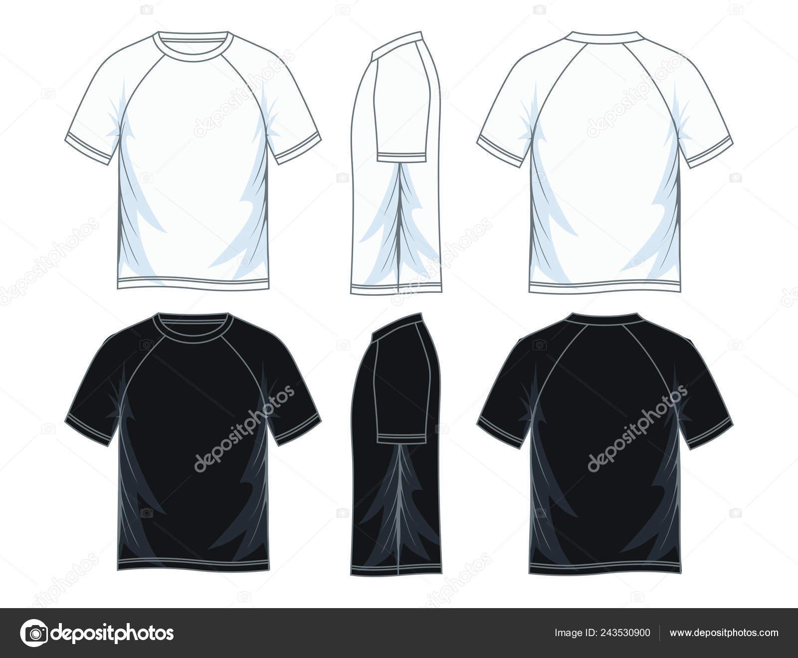 951f3f5e724 Men Short Sleeves Raglan Neck Shirt Templates Front Side Back ...
