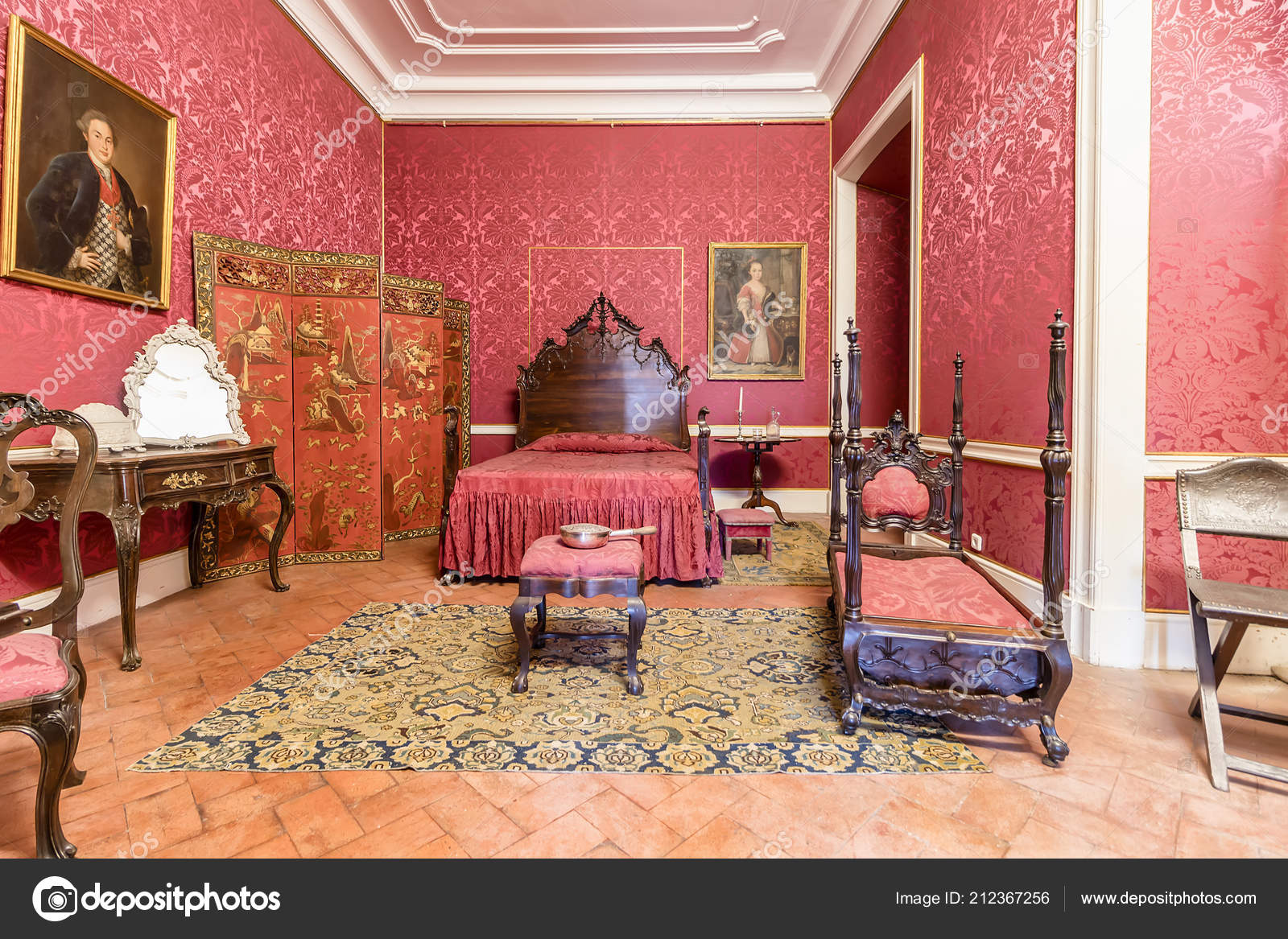 Bedroom Rich Decorated Queluz Royal Palace Formerly Used Summer