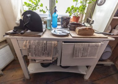 Typical kitchen table used in 1940's