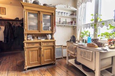 Krakow, Poland - June 3, 2018: Kitchen from 1940's in Oskar Schindler's Enamel factory museum