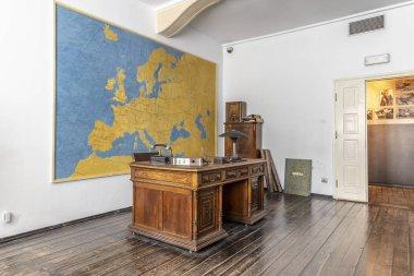 Krakow, Poland - June 3, 2018: Oscar Schindler's cabinet with desk in museum factory in Krakow, Poland