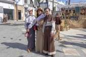 Fotografie Moguer, Huelva, Spain - February 24, 2019: Girls dressed in old