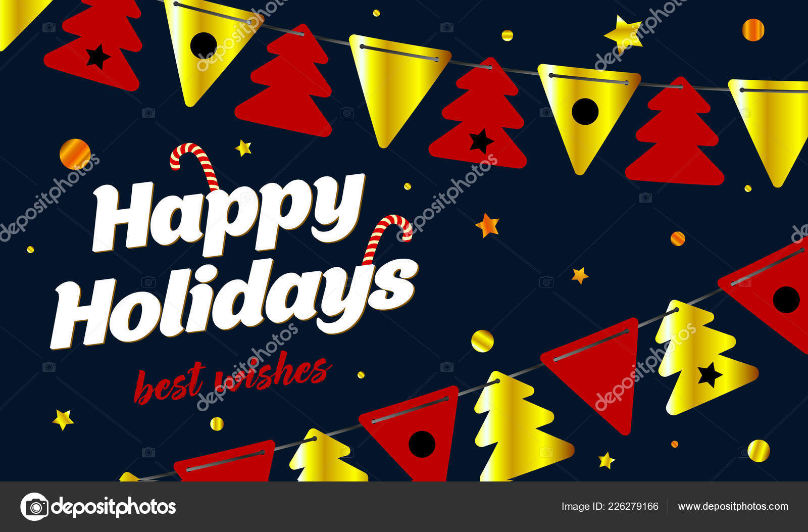 festive background happy holidays new year card vector illustration stock vector