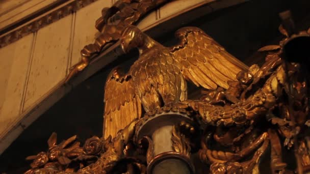 sculpture of the eagle in the church