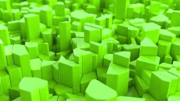 Zelená prasklý povrch. 3d pozadí abstraktní. 3D vykreslení animace