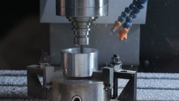Automated cnc production with drill machine for metal processing