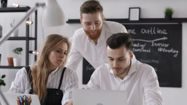 Discussion of Diverse Businessmen Group for Work Plan in Modern Hipster Office