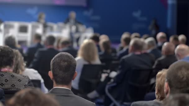 Business Meeting for Finance Presentation or Conference of Crowded Event Hall