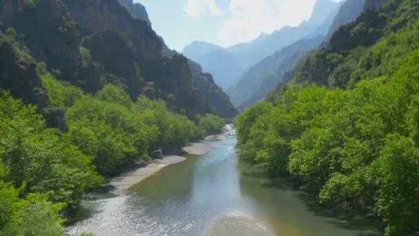 4k, panorama majestátního Verdon Gorge, Provence. Francie