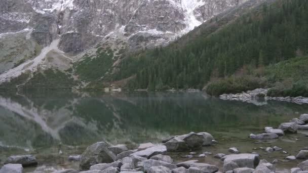 beautiful mountain lake with a national park, Tatry, Poland
