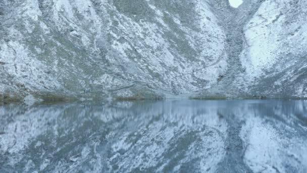 Mountain lake among the mountain peaks, Morskie Oko, Tatra Mountains, Poland