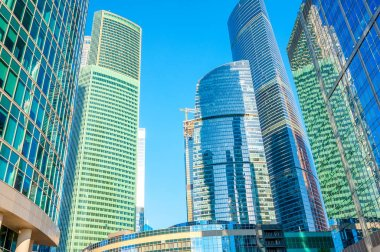 Panorama of skyscrapers Moscow International Business Centret