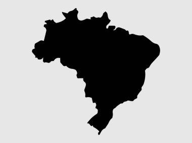 Brazil Map Vector illustration eps 10