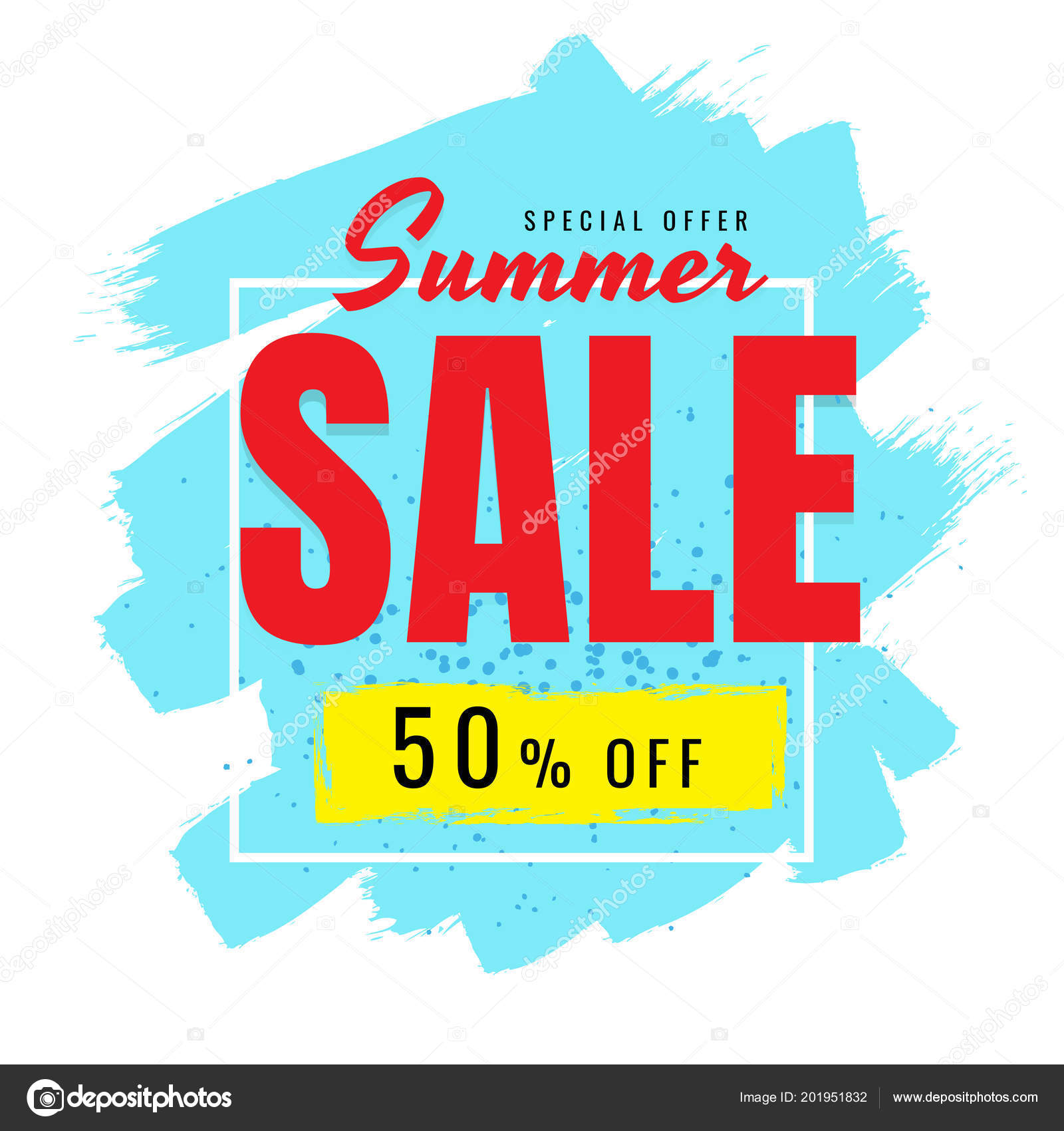 818e122215a3fe Summer Sale Korting Witte Achtergrond Vector Banner Business — Stockvector