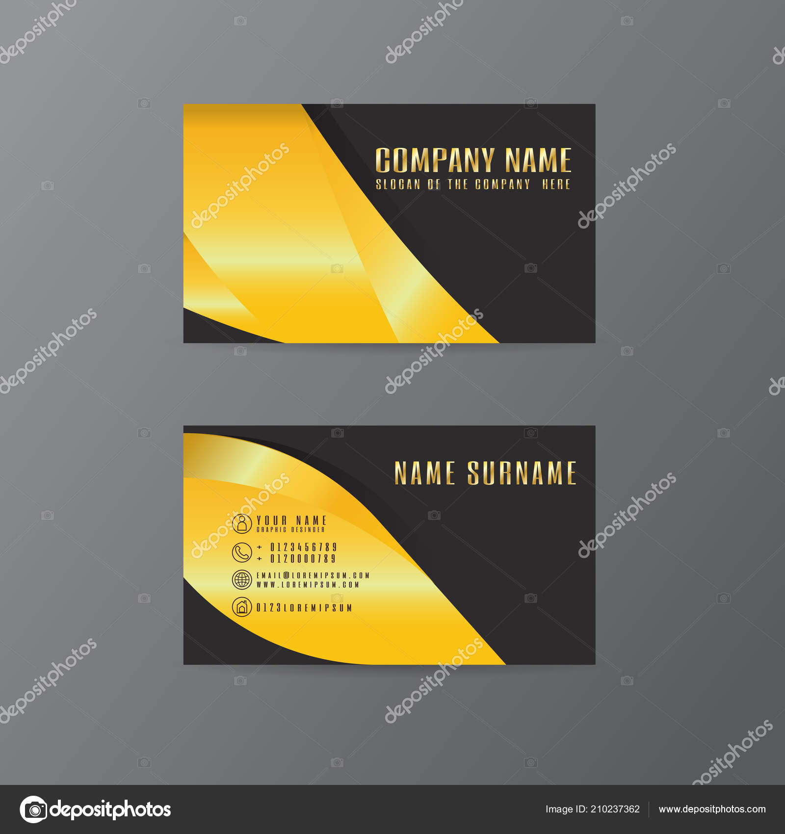 Vector creative leaf business card gold black design text gray vector creative leaf business card gold black design text gray vetores de stock reheart Choice Image