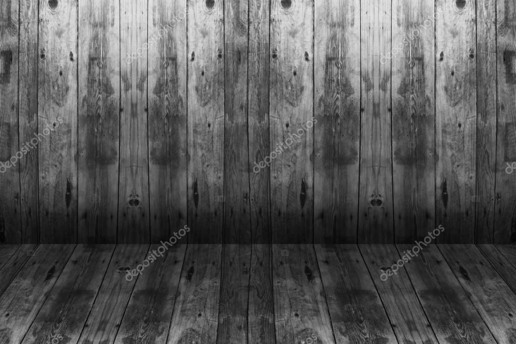 Wooden interior with colorful wall and floor. Background with planks on floor and wall. photo