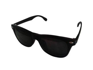 Sunglasses black isolated on white background.