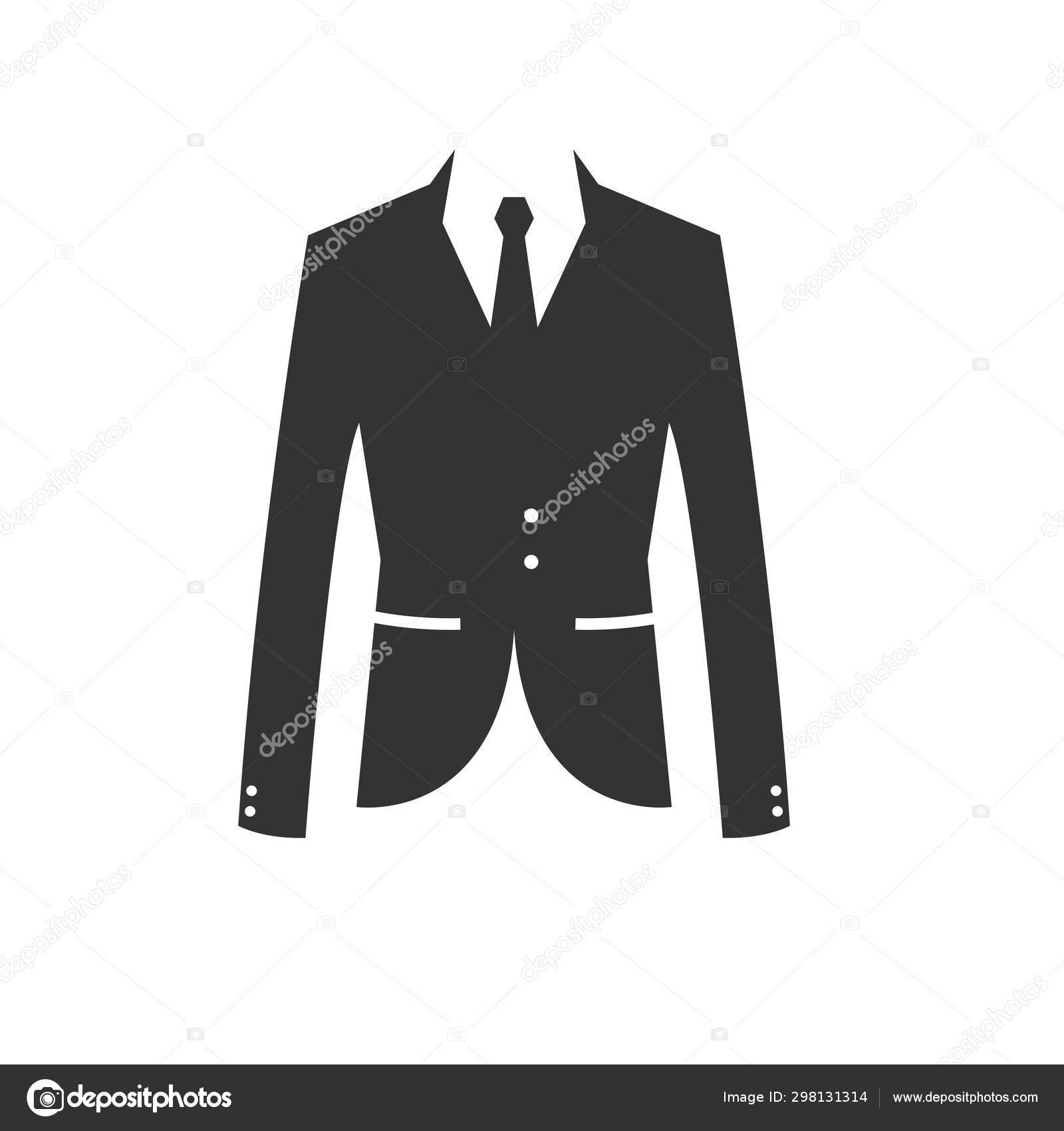Suit black icon. vector. Illustrator.on white background