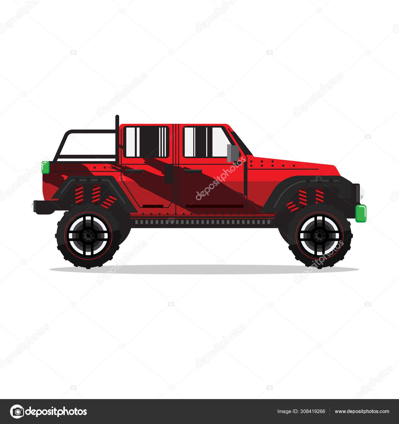 Offroad Car Vector Illustration Design Modern Pickup